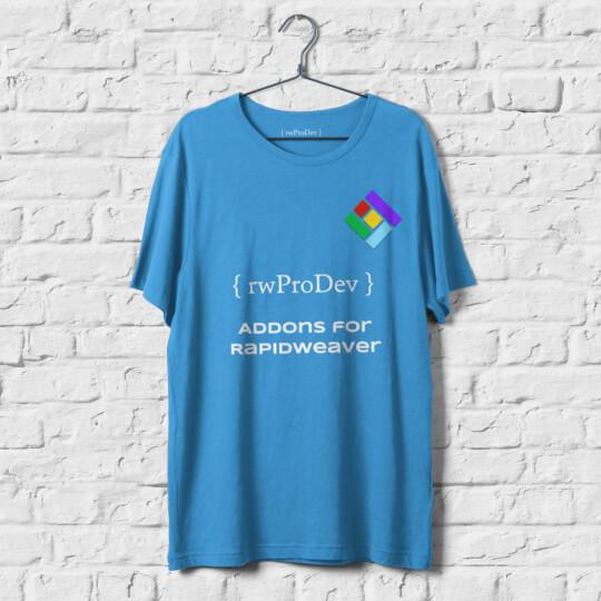 Blue T-Shirt Mockup