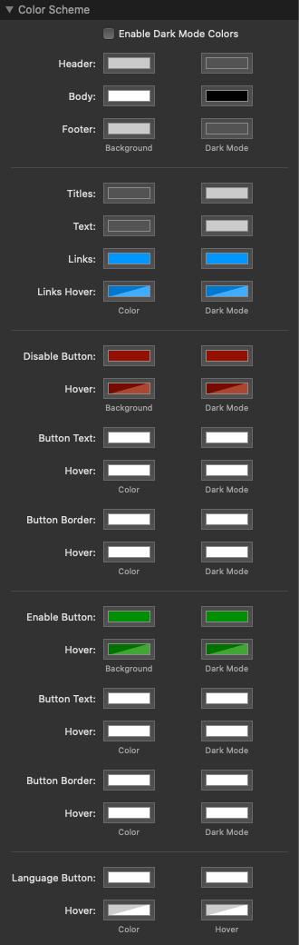 Color Scheme Settings